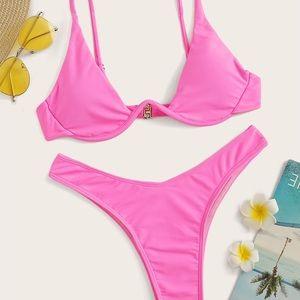 Neon High Waisted Bikini